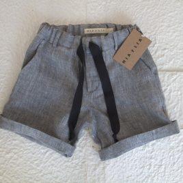 Pantalón corto lino gris niño de MIA Y LIA verano 2019