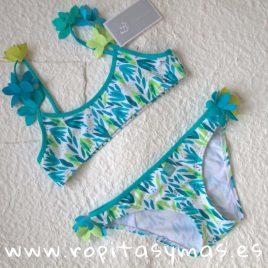 Bikini verde y turquesa HIERBAS de AL AGUA PATOS, verano 2019