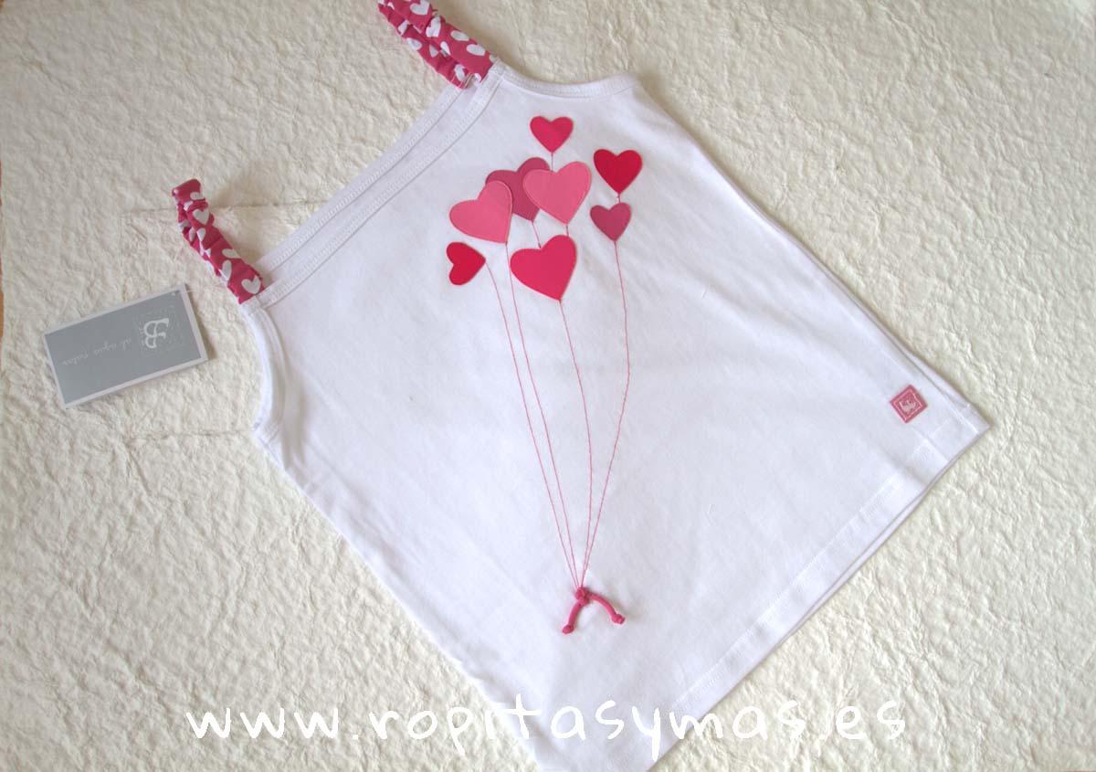 Camiseta niña CORAZONES de AL AGUA PATOS
