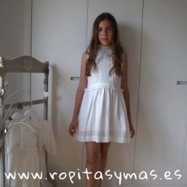 Vestido vaporoso rayas plata PECES de ANCAR, verano 2019