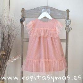 Vestido rosa tul SHELL de EVE CHILDREN, verano 2019