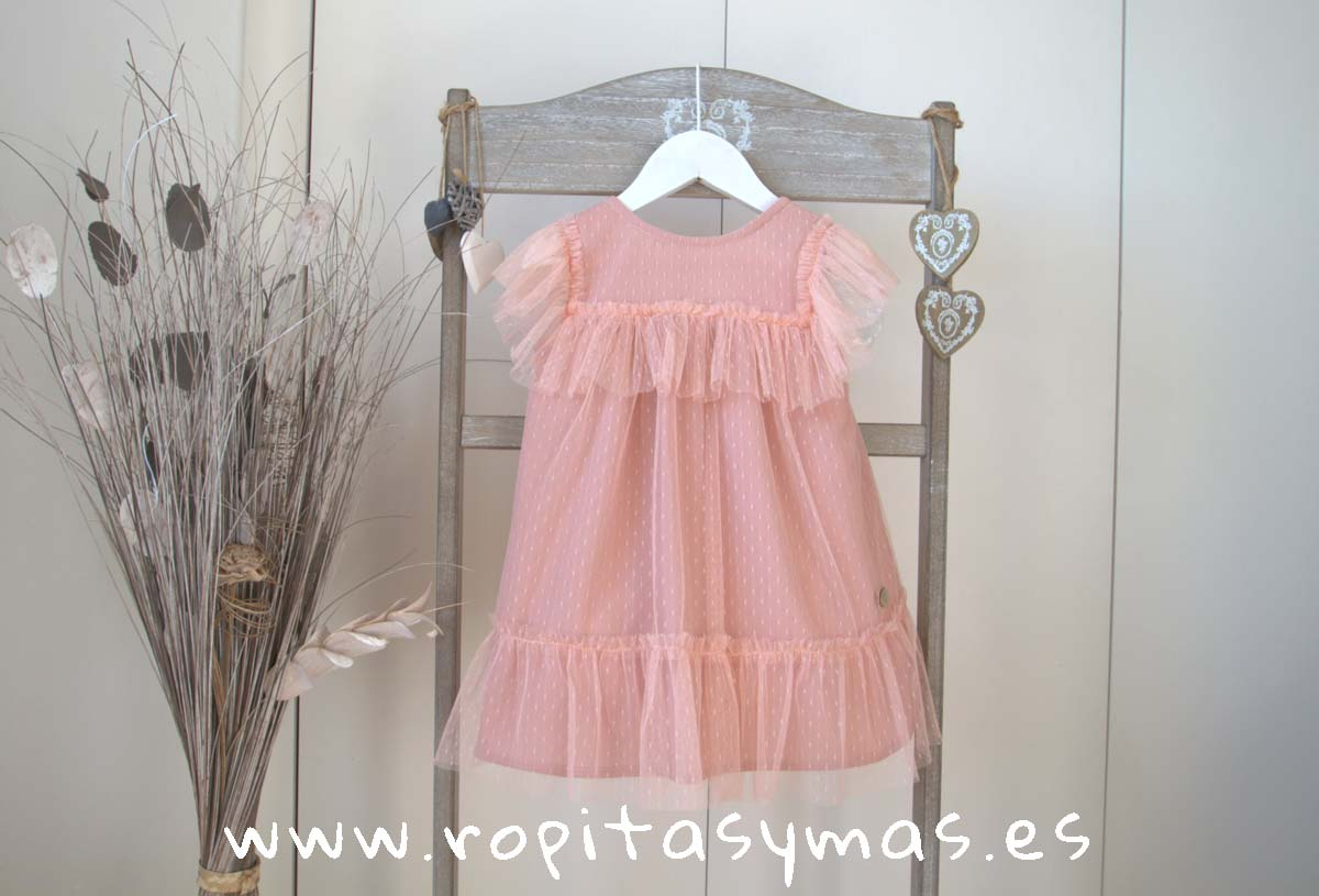 Vestido rosa tul SHELL de EVE CHILDREN