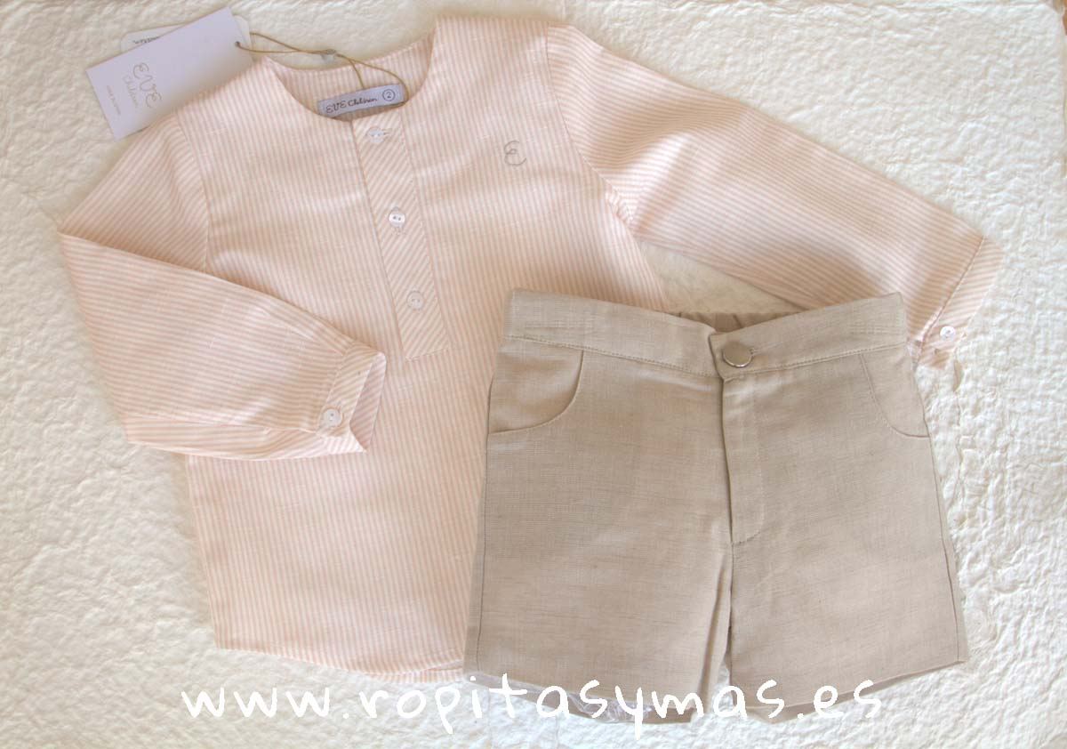 Conjunto niño rayas rosa SHELL de EVE CHILDREN