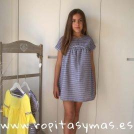 Vestido rayas azul FRESH LEMONADE de MAMI MARÍA, verano 2019