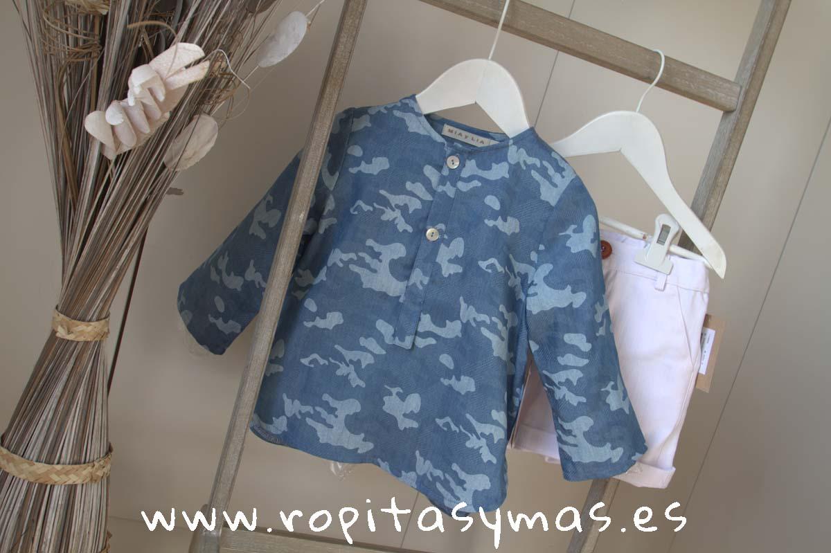 Camisa azul camuflaje de MIA Y LIA