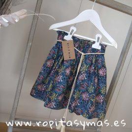Falda azul flores de MIA Y LIA, verano 2019