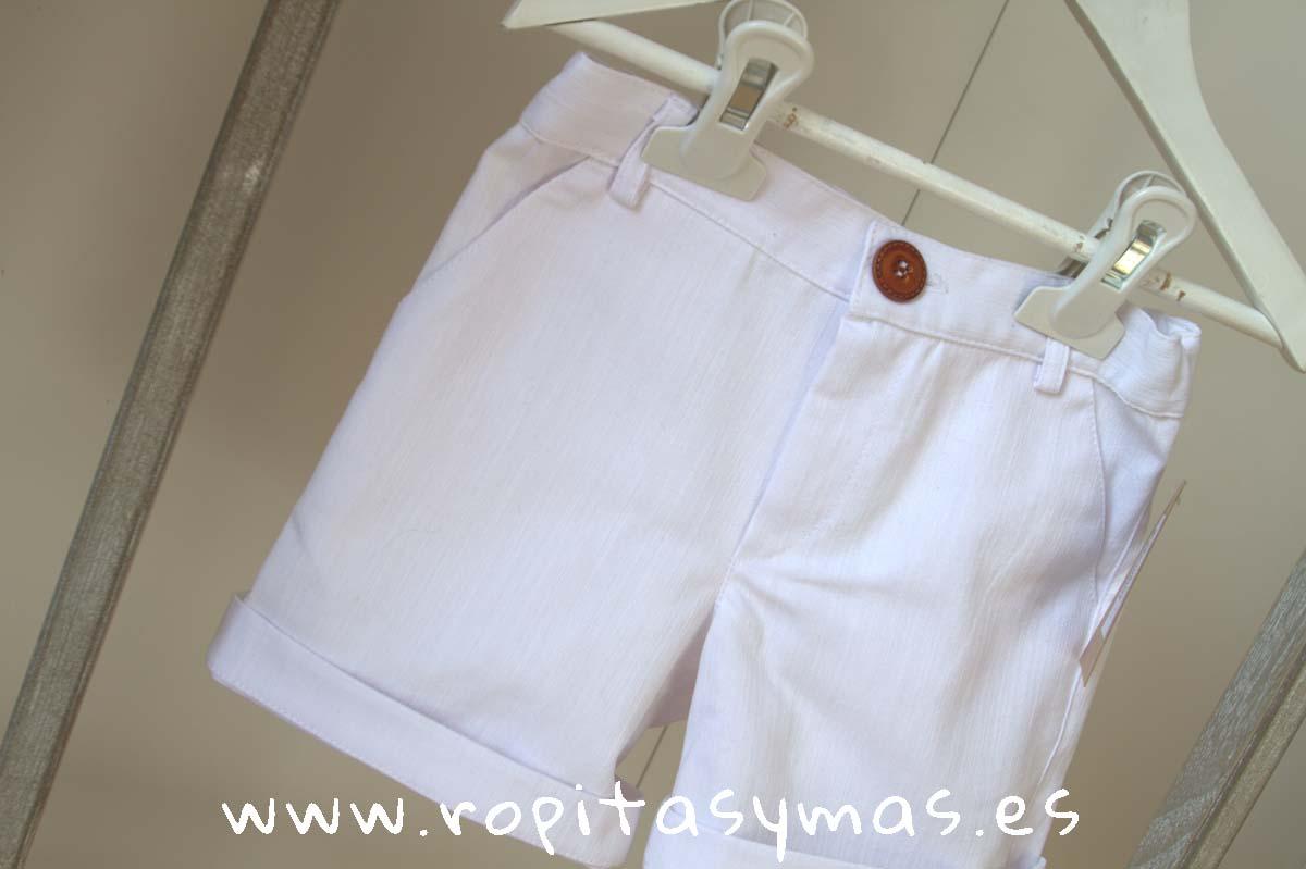 Pantalón corto blanco niño de MIA Y LIA