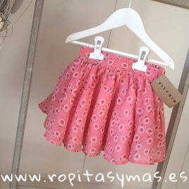 Falda rosa girasoles de MIA Y LIA, verano 2019
