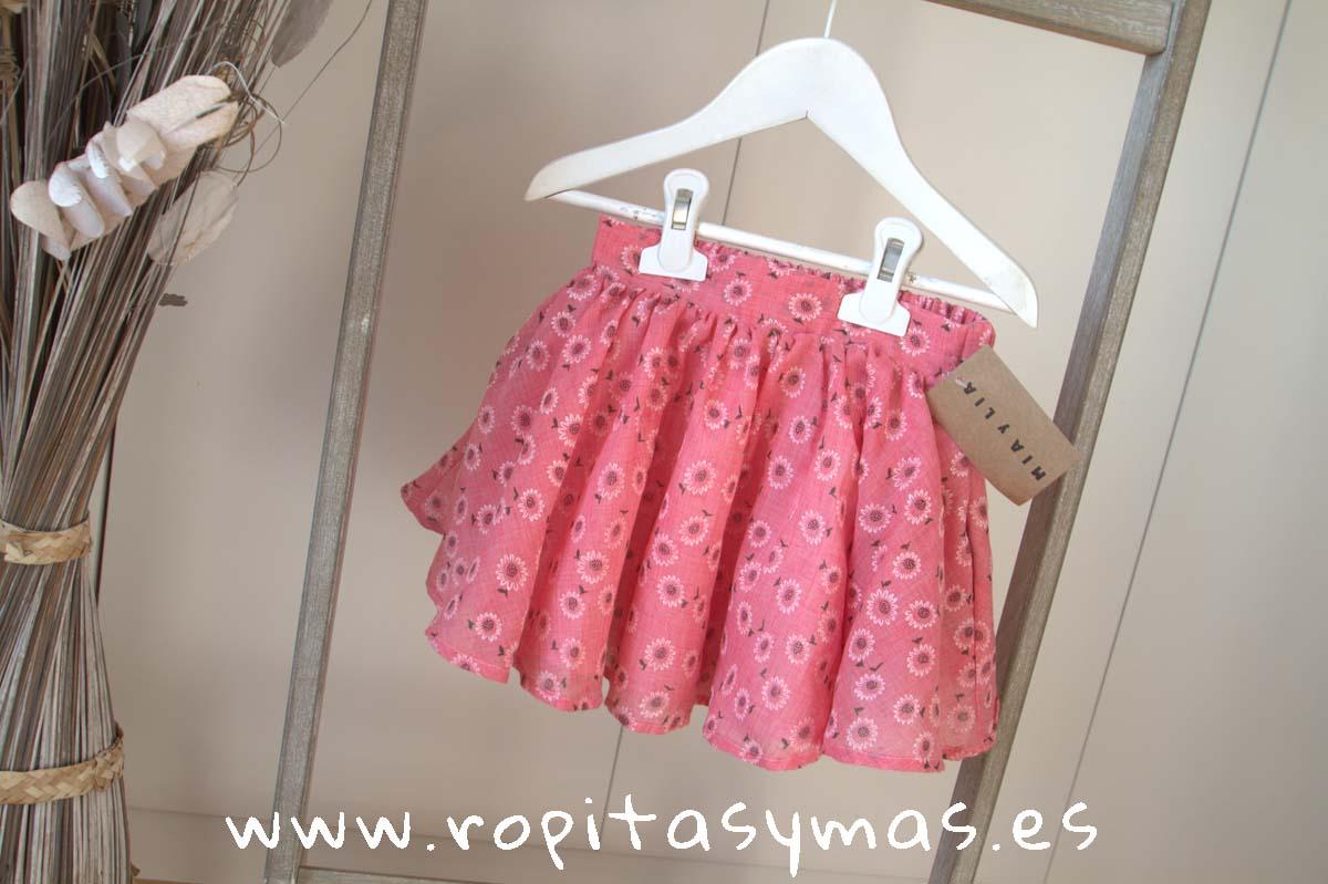 Falda rosa girasoles de MIA Y LIA