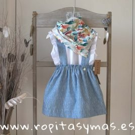 Falda azul MILRAYAS de MIA Y LIA, verano 2019