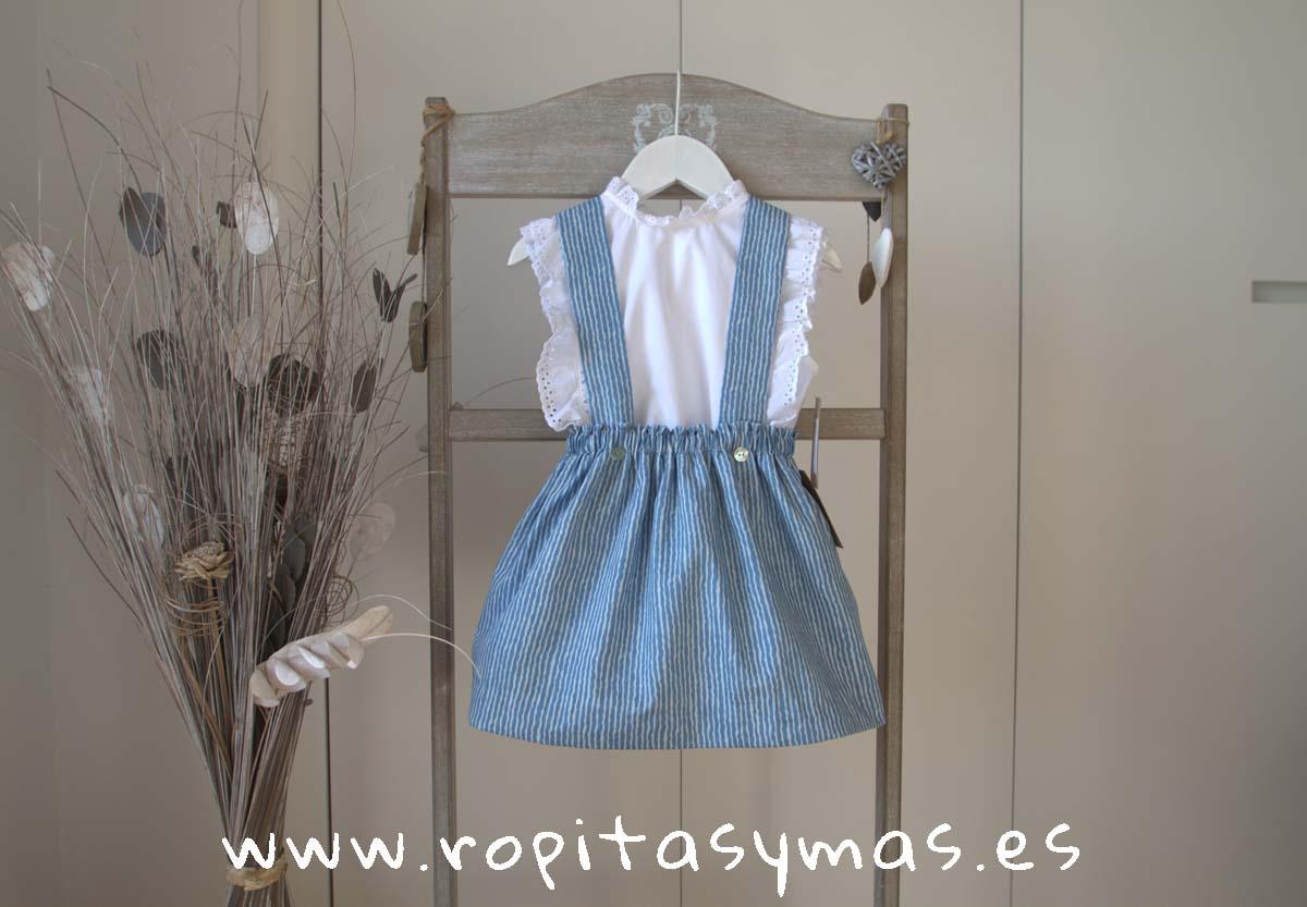 Falda azul MILRAYAS de MIA Y LIA