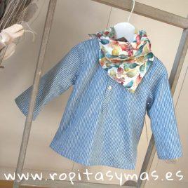 Camisa MILRAYAS AZUL de MIA Y LIA 8fd2ce32a355d