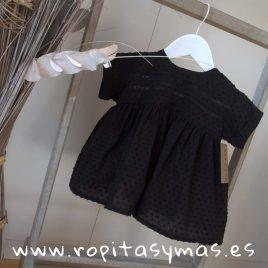 Blusa negra plumeti jaretas de MIA Y LIA, verano 2019