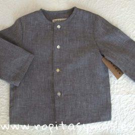 Camisa lino gris de MIA Y LIA, verano 2019