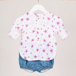 Conjunto bebé stars FUCSIA de KIDS CHOCOLATE, verano 2019