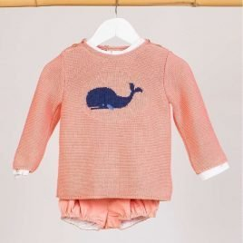 Jersey papaya BALLENAS de KIDS CHOCOLATE, verano 2019