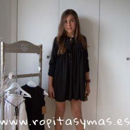 Vestido plumeti negro BLACK de COCCO ROSSE, verano 2019