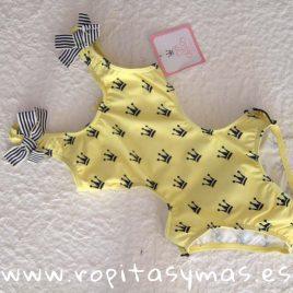 Triquini amarillo y coronas negras LIMÓN de EVA CASTRO, verano 2019