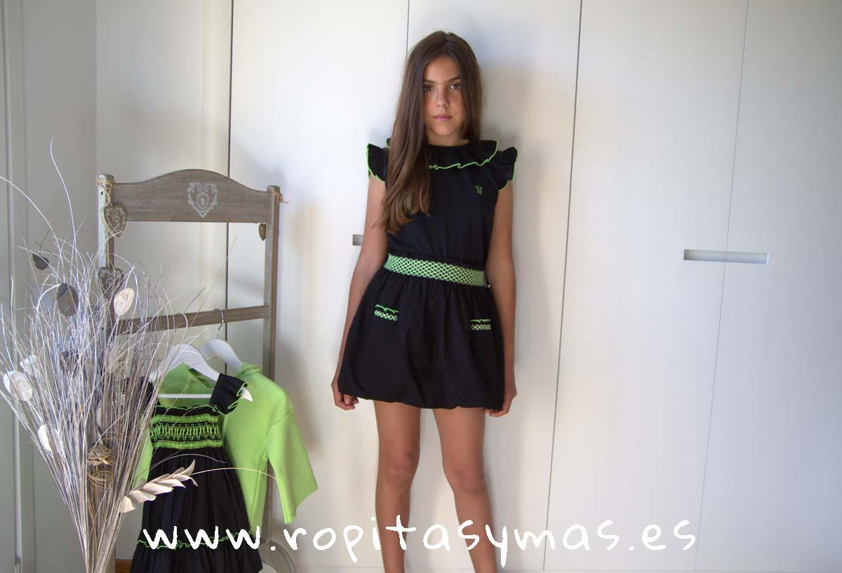Conjunto falda niña DENISE de EVA CASTRO