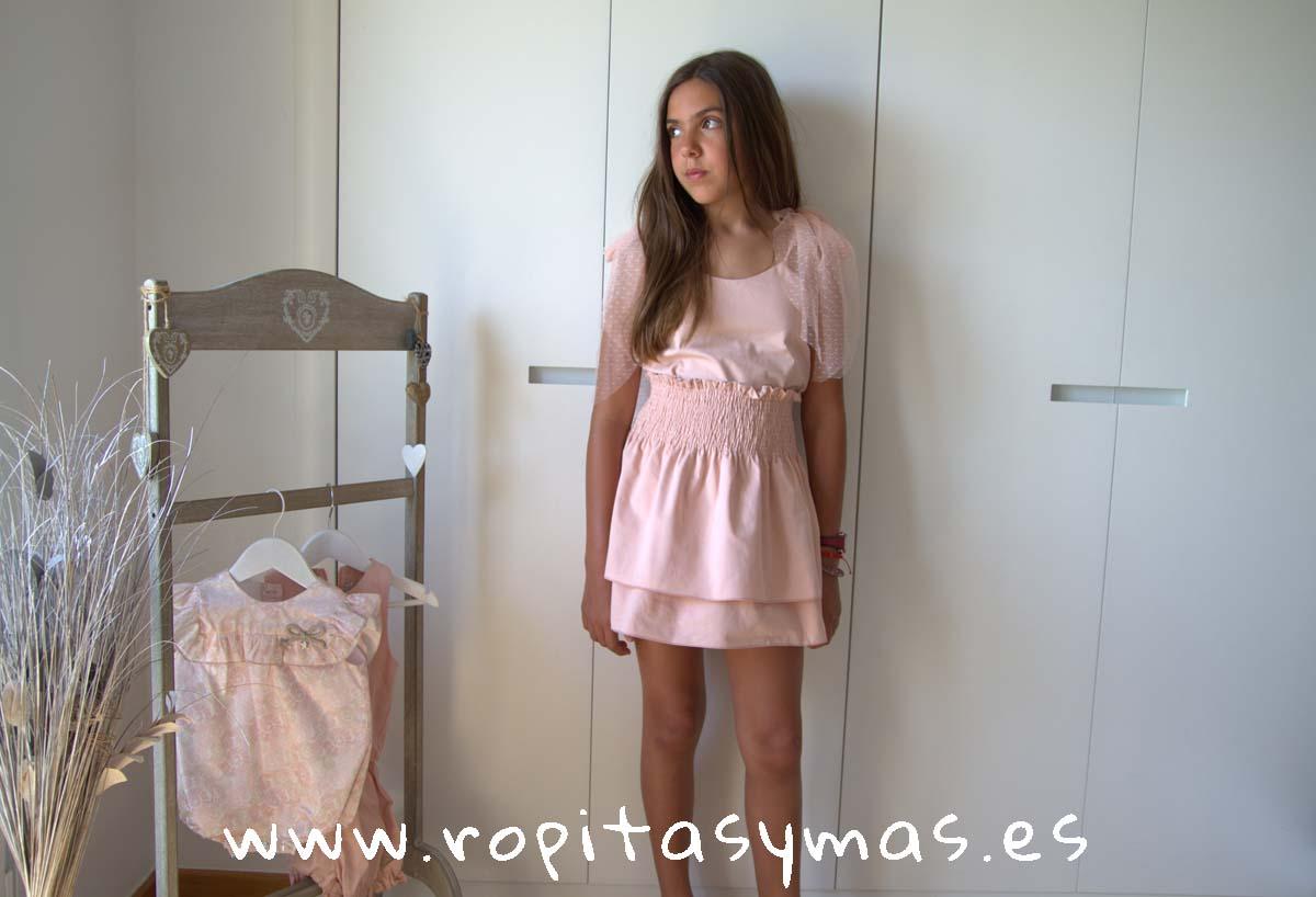 Conjunto falda rosa SHELL de EVE CHILDREN