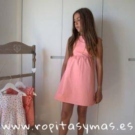 Vestido coral PEACH de EVE CHILDREN, verano 2019
