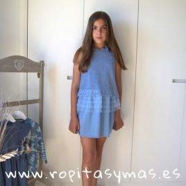 Vestido lurex azul YOUNG&CHIC URBAN de KAULI, verano 2019