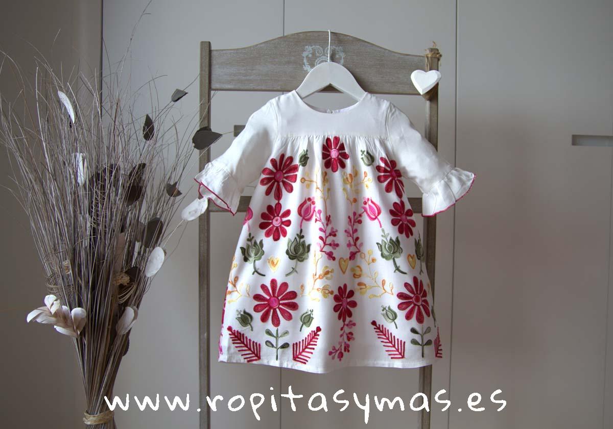 Vestido flores stars FUCSIA de KIDS CHOCOLATE