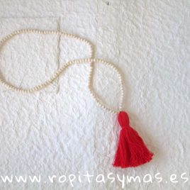 Collar borlón rojo NAVY de KIDS CHOCOLATE, verano 2019