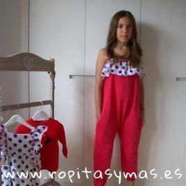 Mono rojo topos NAVY de KIDS CHOCOLATE, verano 2019