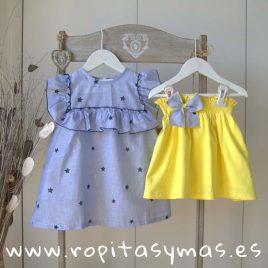 Falda amarilla lazo LEMON de KIDS CHOCOLATE, verano 2019