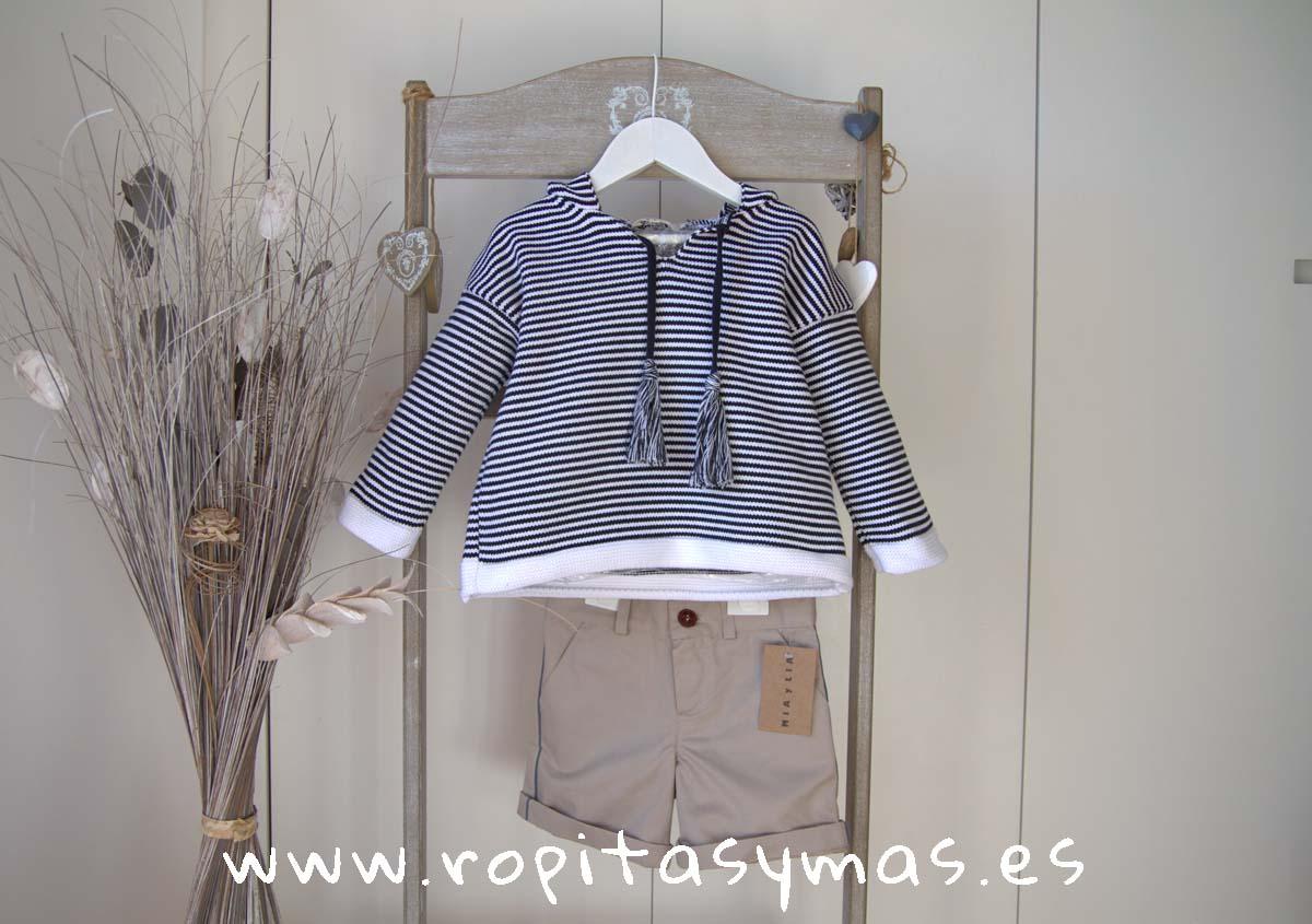 Jersey marinero niño rayas azules de MIA Y LIA