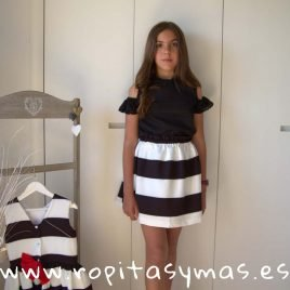 Conjunto falda BLACK de PARA SOFIA, verano 2019