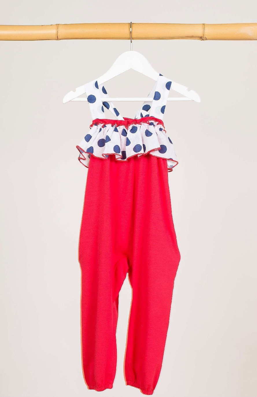 Mono rojo topos NAVY de KIDS CHOCOLATE