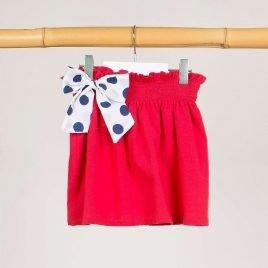 Falda roja lazo NAVY de KIDS CHOCOLATE, verano 2019