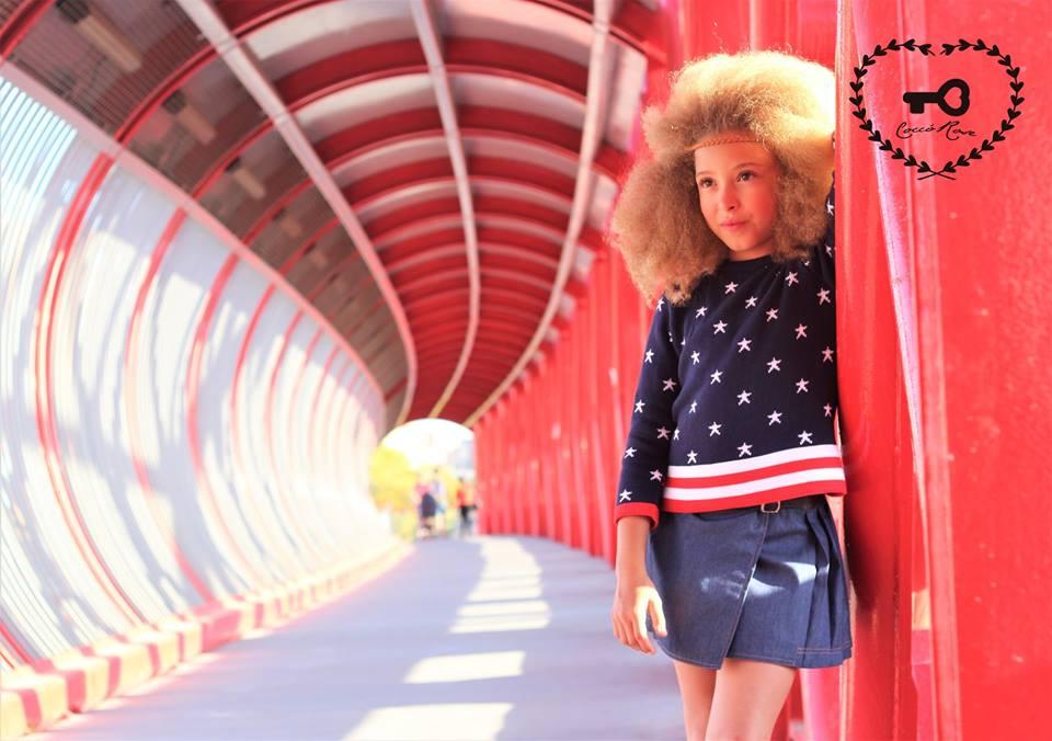 Conjunto jersey y falda vaquera NEW YORK de COCCO ROSE