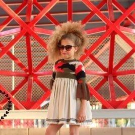 Vestido cámel PÓKER de COCCO ROSSE, verano 2019