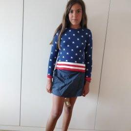 Conjunto jersey y falda vaquera NEW YORK de COCCO ROSE, verano 2019