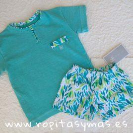 Camiseta turquesa HIERBAS de AL AGUA PATOS, verano 2019