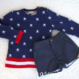 Conjunto niño pantalón y jersey NEW YORK de COCCO ROSE, verano 2019