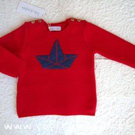 Jersey rojo barco NAVY de KIDS CHOCOLATE, verano 2019
