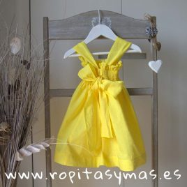 Vestido plumeti amarillo ACAPULCO de LE PETIT MARIETTE, verano 2019