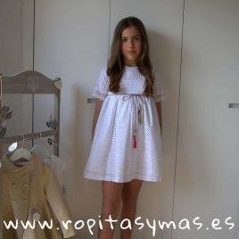 Vestido blanco perforado LILLIUM de MAMI MARÍA, verano 2019