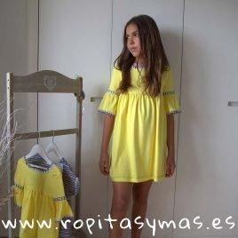 Vestido amarillo LEMON LEMONADE de MAMI MARÍA, verano 2019