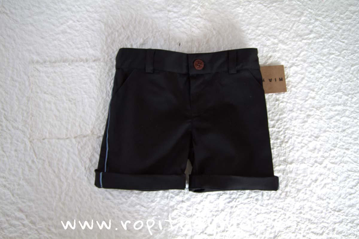 Pantalón corto negro de MIA Y LIA