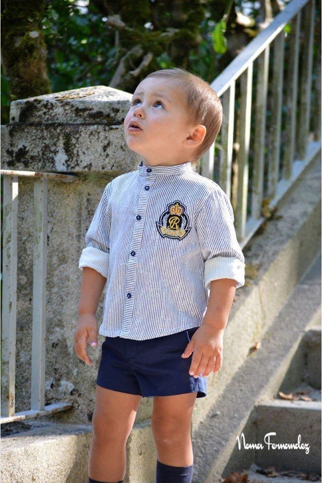 Conjunto niño short y blusa OCÉANO de NOMA