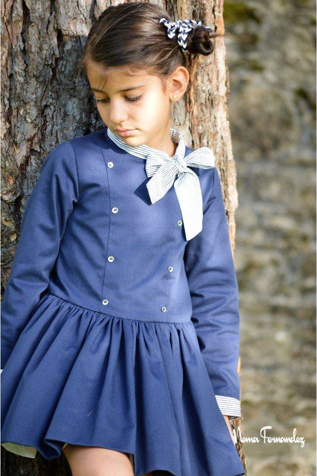 Vestido azul marino OCÉANO de NOMA