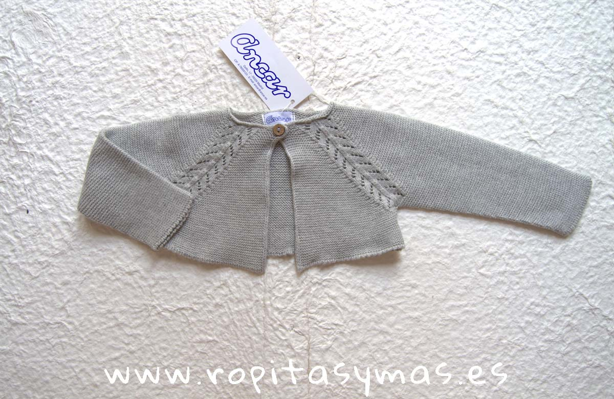 Chaqueta calada gris de ANCAR