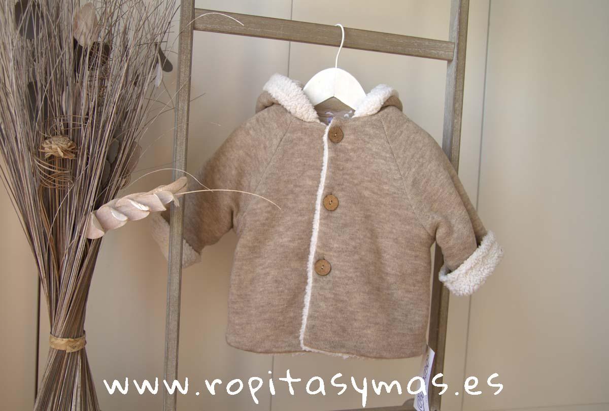 Chaquetón capucha beige jaspeado de ANCAR