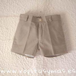 Pantalón muy corto beige PALOMAS de ANCAR, invierno 2019