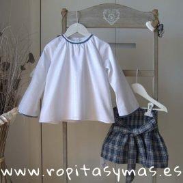 Camisa blanca cadeneta ESCOCESA de ANCAR, invierno 2019